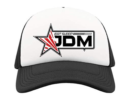 Generic Eat Sleep JDM Japan Drift Rising Sun Star Half Mesh Trucker Cap Baseball Hut Snapback One Size