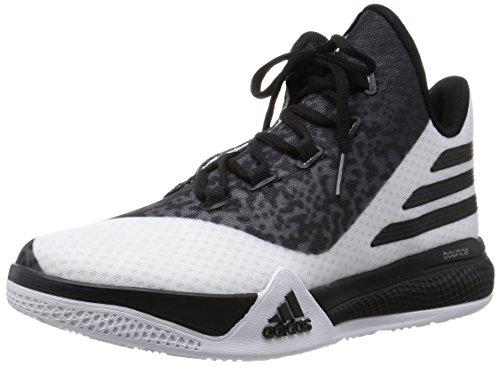adidas Herren Light EM UP 2 Basketballschuhe, Weiß/Grau/Schwarz (Ftwbla/Negbas/Onix), 48 EU