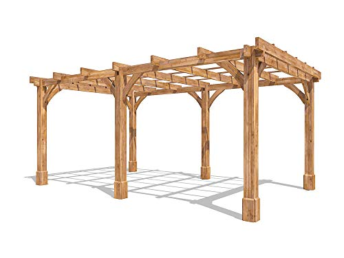 Dunster House Wooden Pergola Garden Canopy Shade Furniture Kit Artemis 5m x 3m