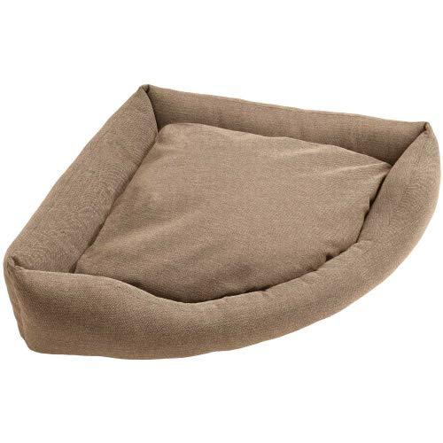 HUNTER Livingston gemütliches Hunde-Ecksofa, ideal für kleine Räume Farbe braun, Größe L