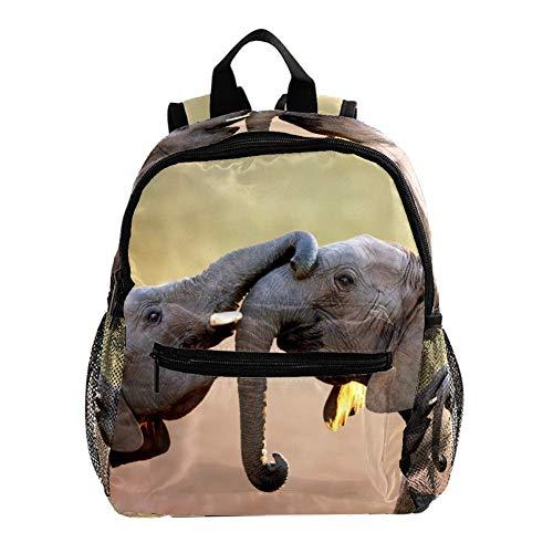 Mochila 3-8 Años Elefante Africano Mochila Ligera para Niños Pequeños para Preescolar Guardería Y Bolsa De Pañales para Bebés De Viaje 25.4x10x30CM