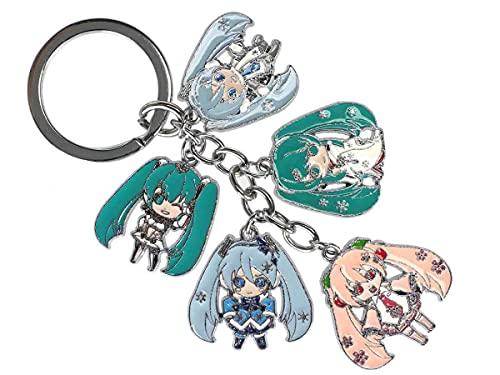 Llavero Vocaloid con 5 figuras de Hatsune Miku | Chibi