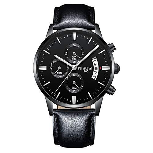 NIBOSI NIBOSI Chronograph Men's Watch (Black Dial Black Colored Strap)