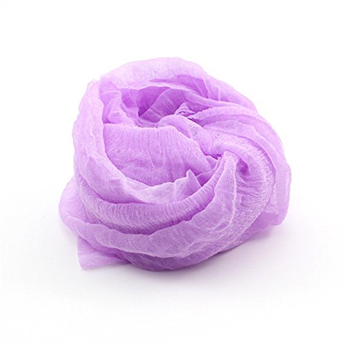 DDU Nouveau multi-couleur écharpe doux élégant pour les filles femmes(Pourpre)