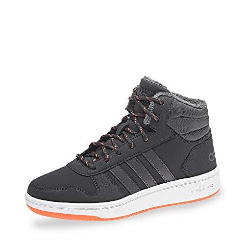 adidas Unisex-Kinder Hoops Mid 2.0 Basketballschuhe, Grau (Carbon/Grefiv/Hireor Carbon/Grefiv/Hireor), 36 2/3 EU