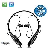 SHOPTOSHOP TM Bluetooth Wireless Headphones Sport Stereo Headsets Hands-Free with Microphone and Neckb