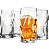 Bormioli Rocco SORGENTE Tall Drinking Glasses 15.5 Ounce Highball Glass (Set of...