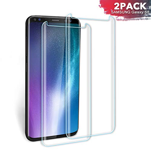 SGIN Galaxy S8 Pellicola Protettiva, [2 Pezzi] HD Trasparente per Samsung Galaxy S8 Pellicola Proteggi Schermo in Vetro temperato, durezza 9H, Anti-Impronte, Trasparente, Senza Bolle – Trasparente