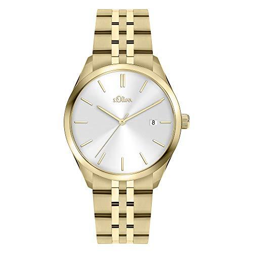 s.Oliver Damen Analog Quarz Uhr mit Edelstahl Armband SO-3943-MQ