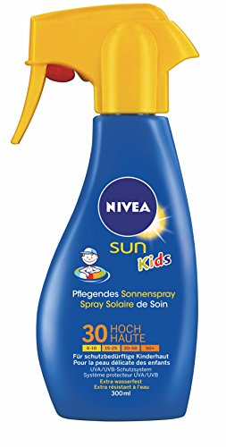 Nivea Sun Kids Pflegendes Sonnenspray LSF 30, mit Trigger, 1er Pack (1 x 300 ml)