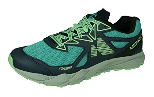 Merrell Agility Fusion Flex Womens Trail Running Sneakers/Shoes-Blue-7.5