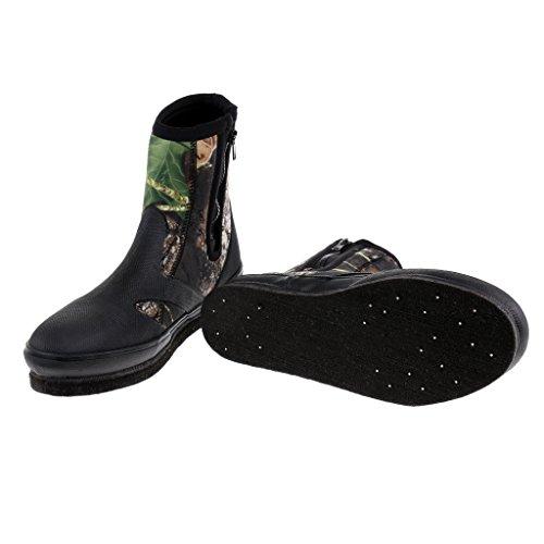 Sharplace Chaussures Imperméable Antidérapante Idéal pour Pêche et Trekking de Rivière - Camouflage, 9