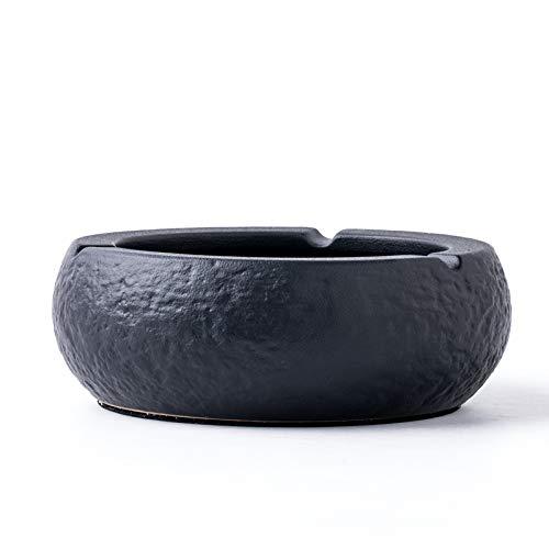 Z-GJM Chinese creatieve zwarte keramische asbak woonkamer salontafel decoratie Home persoonlijkheid Trend keramische eenvoudige asbak een asbak is een geweldig cadeau voor elke roker of niet-roker. A