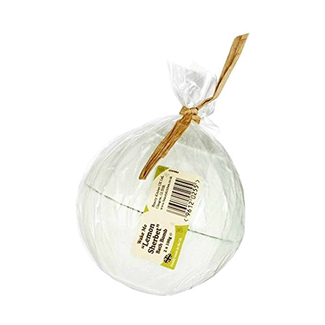 空中家禽従順Beauty Kitchen Wake Me Lemon Sherbet Bath Bomb 2 x 100g (Pack of 2) - 美しさのキッチンは私にレモンシャーベットバス爆弾2×100グラムを覚まします (x2) [並行輸入品]