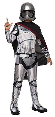 Star Wars - Disfraz de Capitán Phasma Deluxe para niño, infantil Large (8-10 años)