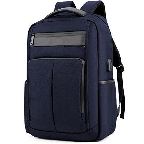 beibao shop Backpack - USB Mode Ordinateur Sac à Dos 18 Pouces Ordinateur Compartiment léger Imperméable Anti-vol Homme Femme Loisirs Affaires Ordinateur Sac à Dos, Black, 18 inches