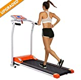 Aceshin Folding Treadmill Electric Treadmills for Home with LCD Monitor,Pulse Grip and Safe Key Running Walking Jogging Exercise Fitness Machine Space Saving for Home Gym Office Low Noise (Orange)