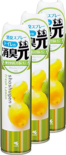 【まとめ買い】トイレの消臭元スプレー 消臭芳香剤 トイレ用 爽やかはじけるレモン 280ml×3個