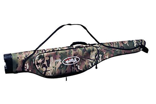 York Soldier - Funda rígida para cañas de pescar (2 compartimentos, 110 cm)