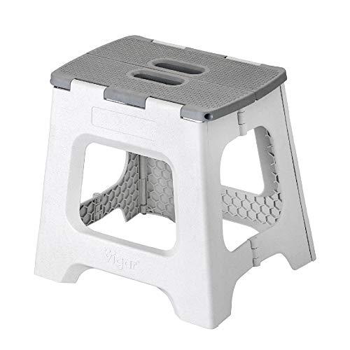 VIGAR Zeroline, Taburete Plegable Compact de 32 cm de Altura, Gris (Zeroline)