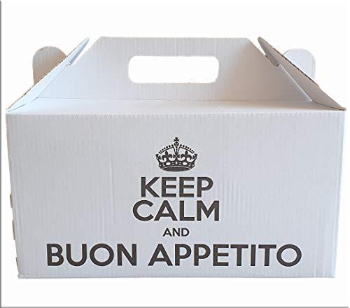 IMBALLAGGI 2000 Contenitore Alimenti da Asporto, Scatola Box in Cartone per Cibo, Ideale per Take Away, Ristoranti e Bar (20)