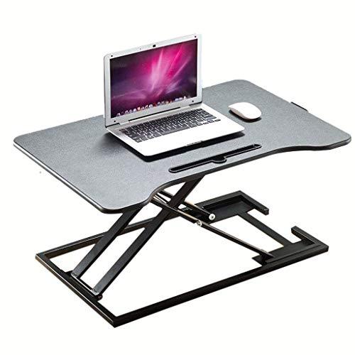 HEWEI Computer werkstations Stand-up computer bureau staat Computer lifting tafel lifting frame Opvouwbare laptop bureau stand-up werkbank Kan worden verhoogd en verlaagd (kleur: zwart)
