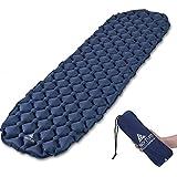 Hikenture Backpacking Sleeping Pad Ultralight Camping Pad,Upgraded Design Air Support Sleeping Mat, Compact Lightweight for Sleeping Bag,Car,Outdoor,Camp,Hammock (Navy Blue)