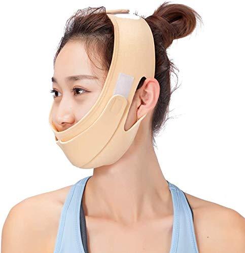 2 soorten Facial Slimming Mask, ademend Lifting Gezicht Belt Verminder dubbele kin V Face Line Verbanden Haalt Facial Anti-dubbele kin Gezichtsverzorging Riemen Ultradunne Strap Band Anti Wrinkle Mask