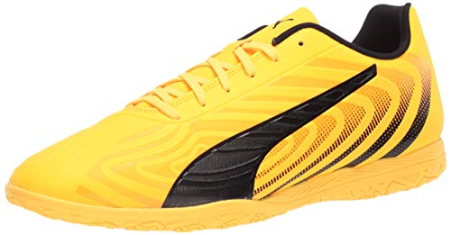 PUMA Men's One 20.4 Indoor Trainer Sneaker, Ultra Yellowpuma Blackorange Alert, 10 M US