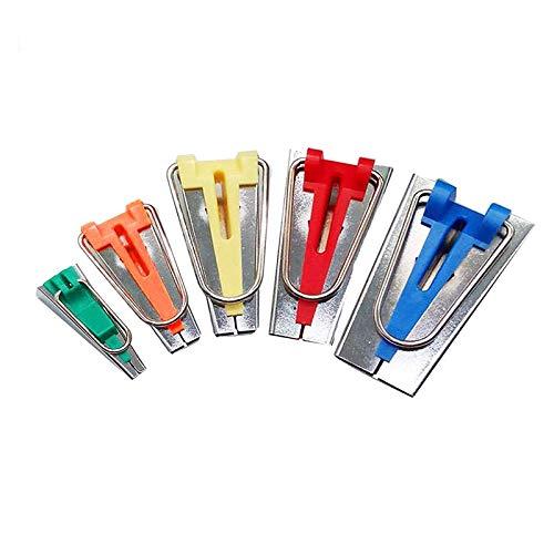 Juego de 5 herramientas para bies/bandas de tela de tamaños diferentes para anchuras de 6 mm 9mm 12 mm 18 mm 25 mm,para Hacer cinturón de encuadernación