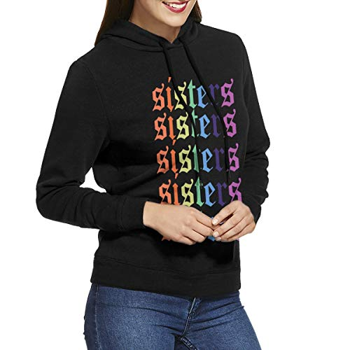 CNJELLAW Ja-mes Char-les Rainbow Sis-ters Fashion Hoodie Sweatshirts Sports Pullovers Sweaters for Women.