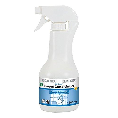 Jaeger Fliesen-Grundreiniger, hochwirksamer Fliesenreiniger 500 ml
