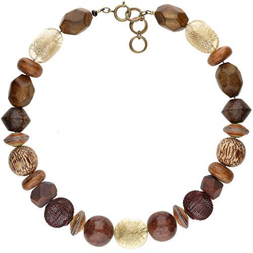 langani Halskette Belum Damen-Kette schwarzen Perle Handmade Since 1952