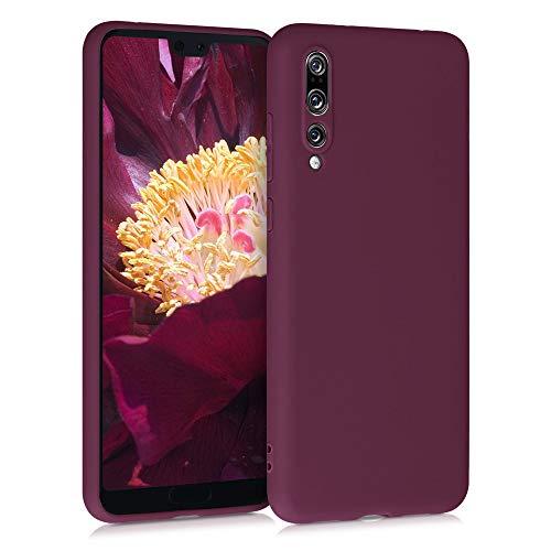 kwmobile Cover Compatibile con Huawei P20 PRO - Cover Custodia in Silicone TPU - Backcover Protezione Posteriore - Viola Bordeaux