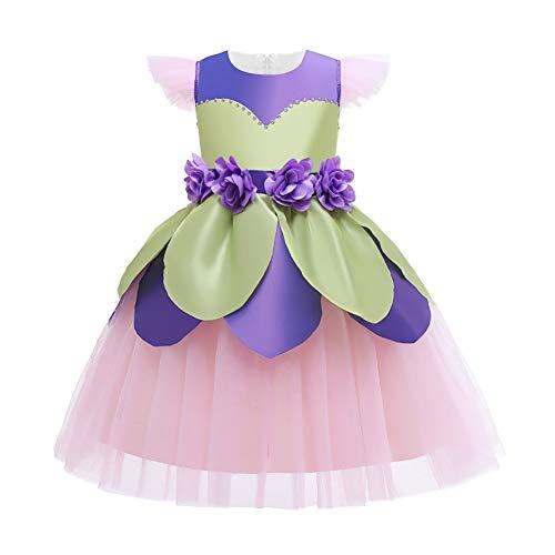 OBEEII Disfraz de Princesas para Nias,Fairy Fancy Dress Costume,Disfraz de Campanilla para Halloween Cosplay Fiesta Carnaval Vestito 3-12 Aos