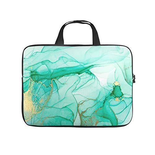 Neoprene Marble Texture Ink Laptop Sleeve Durable Office Bag -Abstract Art for Men Women Boys Girls White 17 Zoll