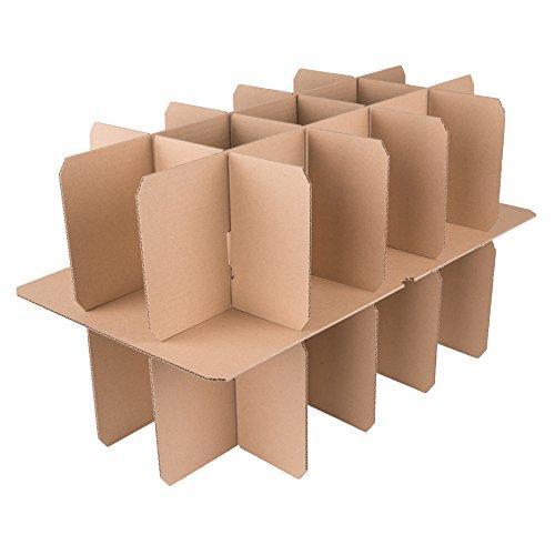 600 Gläserkartons mit 15 Fächern Flaschenkartons für Umzug Verpackung Umzugskartons - 2