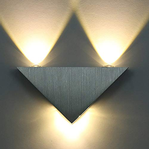 OPSLEA Aplique de pared para interiores Moderno triángulo LED Aplique de pared