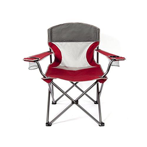 Unbekannt MAC Sports Heavy Duty Big Comfort XL zusammenklappbar Quad Outdoor Camp Stuhl Mit Tragetasche, rot
