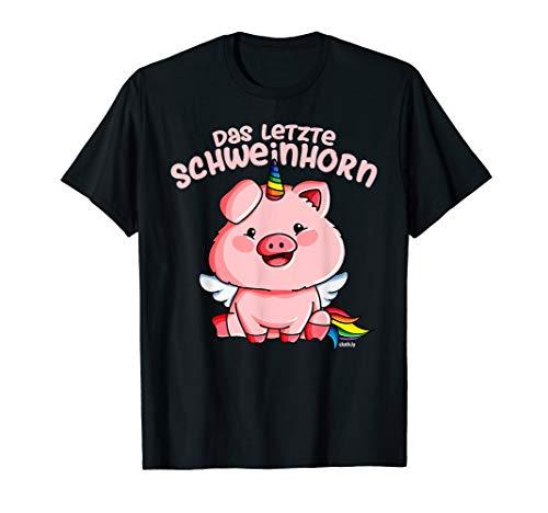 Schweinhorn Einhorn Schwein Schweinchen Kostüm Verkleidung T-Shirt