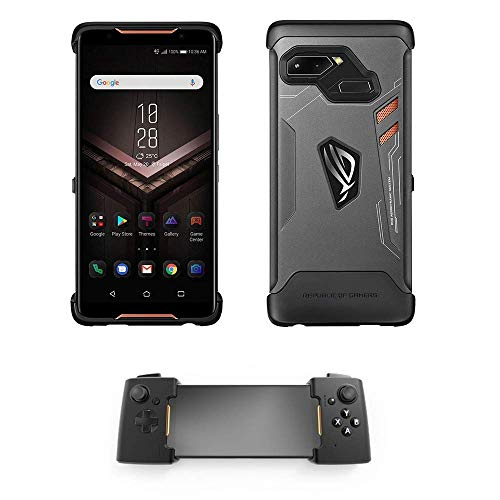 ASUS ZS600KL-S845-8G512G ROG Gaming Smartphone 6' Display - Qualcomm SD 845-8GB RAM/512GB Storage - LTE Unlocked Dual SIM (GSM Only) + ROG Phone Case + Gamevice (512GB + Case + Gamevice)