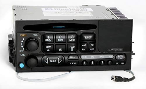 1 Factory Radio AM FM CD Player Radio w Aux on Pigtail & Bluetooth Upgrade Compatible With 1995-05 Chevrolet GMC Truck