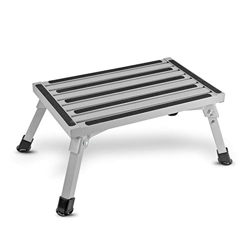 ha ba Faltbare Aluminium Trittstufe | geprüft bis 150 kg | kleines Packmaß | 2,9Kg