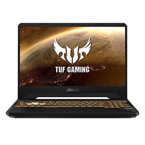 "ASUS TUF FX505DT-BQ600 - Ordenador portátil Gaming de 15.6"" FullHD (AMD Ryzen 7 3750H, 16GB RAM, 512GB SSD, NVIDIA GTX1650-4GB, sin sistema operativo) Negro Sigilo - Teclado QWERTY español"