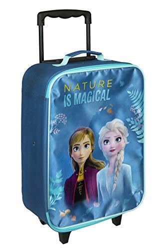 Kinder Trolley Kindergepäck Reisekoffer und Rollen/Kids Mädchen Trolley Lizenz Kinder Koffer kompatibel mit ELSA