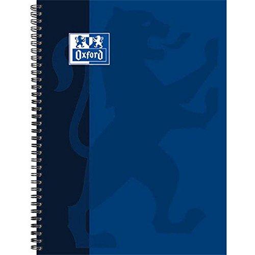 Oxford Schule Collegeblock A5, kariert, 80 Blatt, gelocht, dunkelblau, 5er Pack
