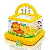 Hüpfburg Aufblasbare Spielzeuge Für Kinder Aufblasbare Burg Aufblasbares Trampolin Spielplatz Für Kinder Spielpool Kinderzaun (Color : Orange, Size : 117x117x117cm)