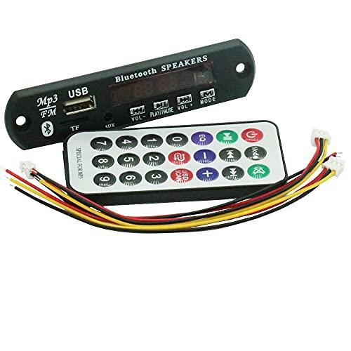 GzxLaY 1 Juego de 7-12 V, Placa decodificadora de MP3 Bluetooth para Coche, módulo de Reproductor de decodificación, Compatible con Radio FM, USB/TF, Pantalla LCD, Mando a Distancia