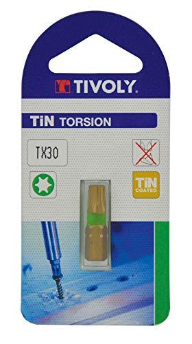 TIVOLY 11522523000 - Puntas de atornillado Torsion Tin para tornillos Torx Tx30 set destornillador