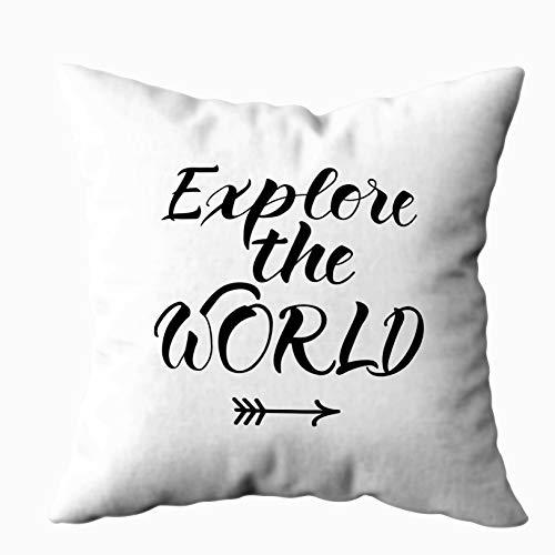 Capsceoll Kissenbezug, Standardgröße, Textur mit Dreiecken, Mosaik-Muster, 16 x 16 cm, Heimdekoration, Kissenbezüge mit Reißverschluss, Kissen für Sofa Couch Kolonialstil 20X20 Weiß Schwarz -1